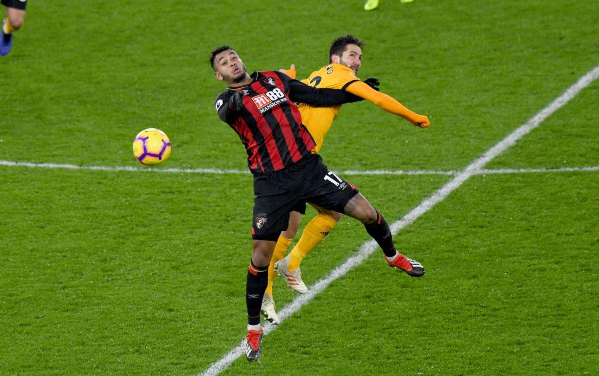 Joso Moutinho of Wolverhampton Wanderers and Josh King of Bournemouth (AMA)