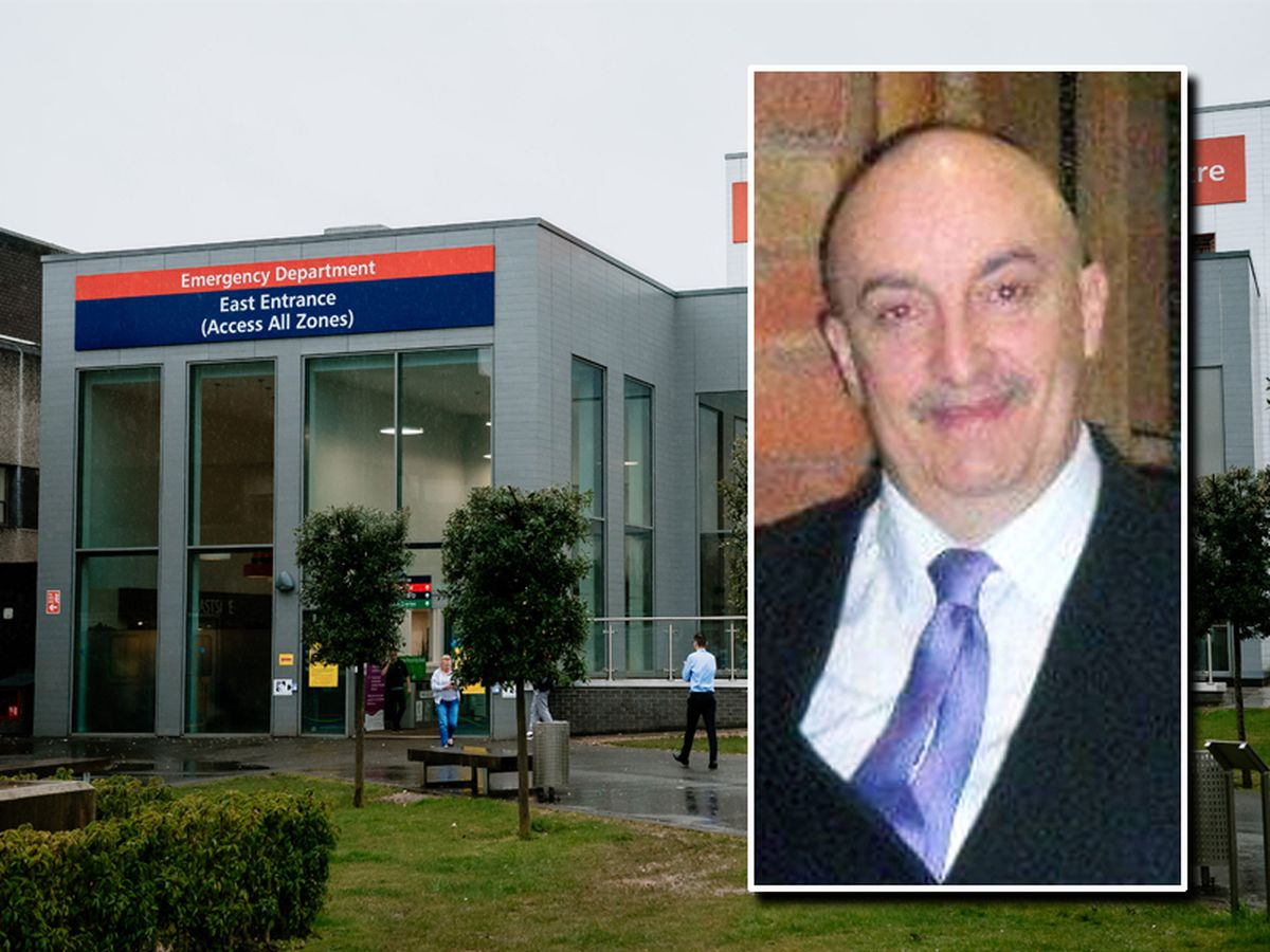 John Doyle, inset, had worked as a call handler at Wolverhampton's New Cross Hospital, main