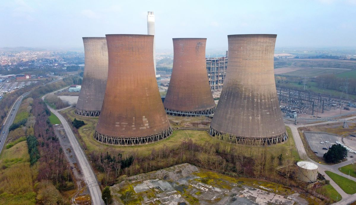 An aerial pic of Rugeley Power Station, which is due to be demolished to make way for housing