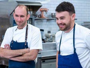 Whitchurch chef Stuart Collins and LIchfield rival Liam Dillon on the BBC's Great British Menu