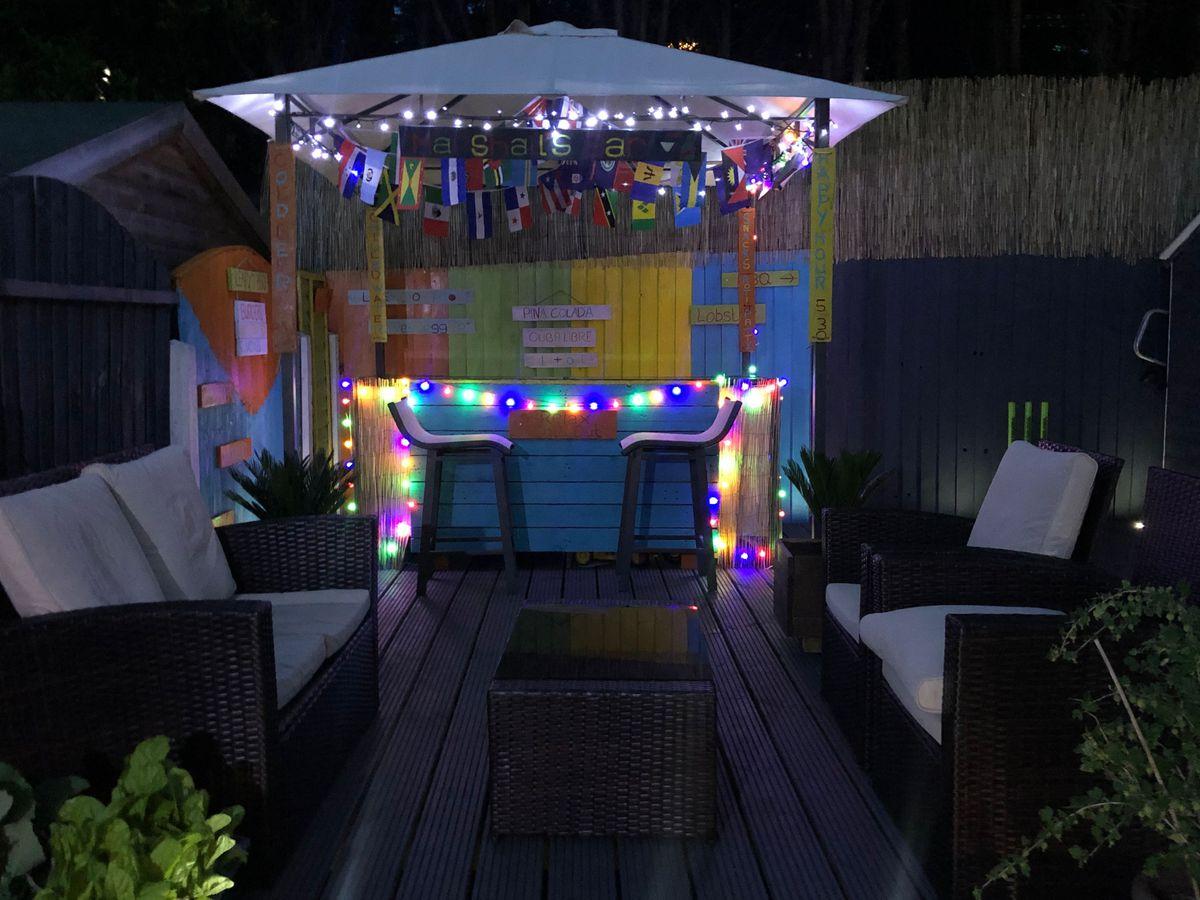 Mark and Lynn Marshall's Caribbean-themed bar project comes to life. Photo: Mark Marshall