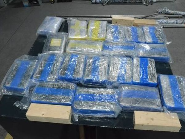 The cocaine seized by police