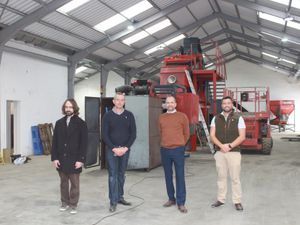 The founders of Fenix Battery Recycling are from left to right: Dr Athan Fox, Miles Freeman, Neil Muttock and Damian Lambkin