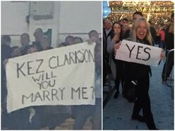 Tonight I'm Yours! Concert-goer pops question with proposal at Sir Rod Stewart show