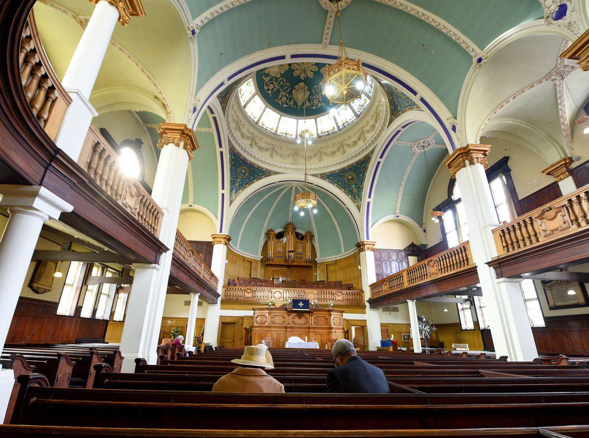 Inside Darlington Street Methodist Church