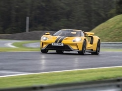 Flat-out on track in the Ford GT