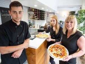 Anthony Begley, Rachael Beith and Holly Turley at La Famiglia restaurant