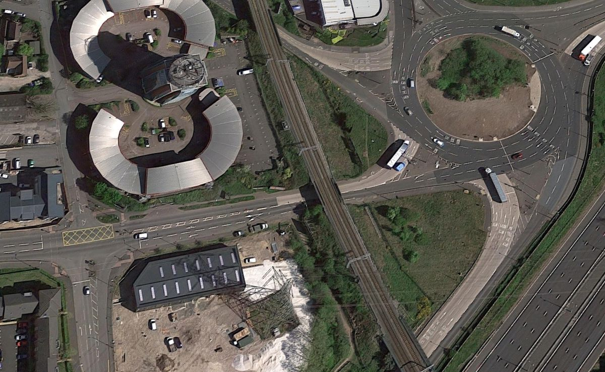 Severn Trent is closing part of the eastbound A5 in Cannock. Photo: Google