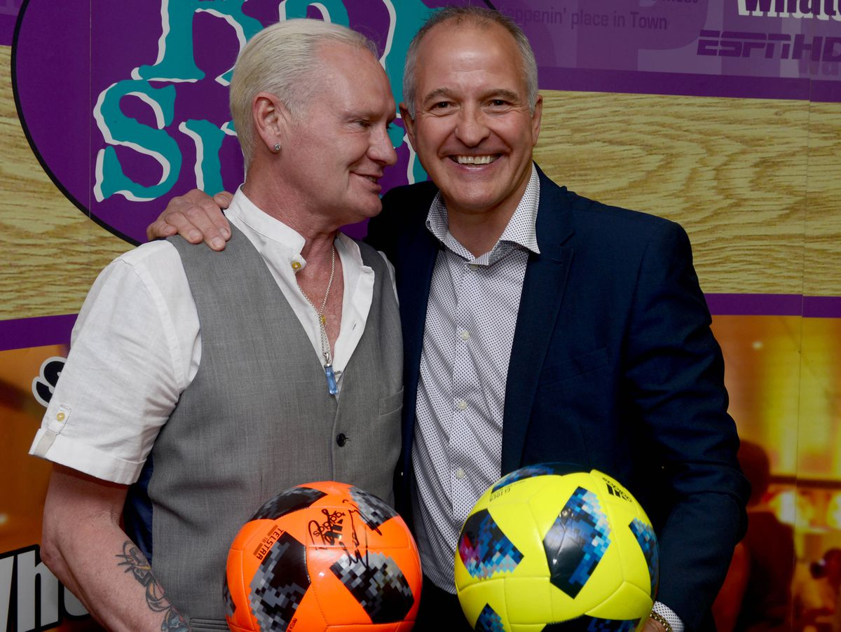 Gazza with Steve Bull