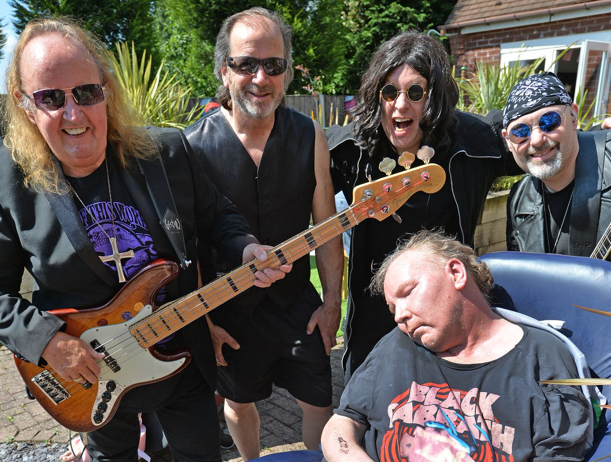 Kevin Watkins, now aged 61, with the band Forever Sabbath for the 'Rock at Rushall' event