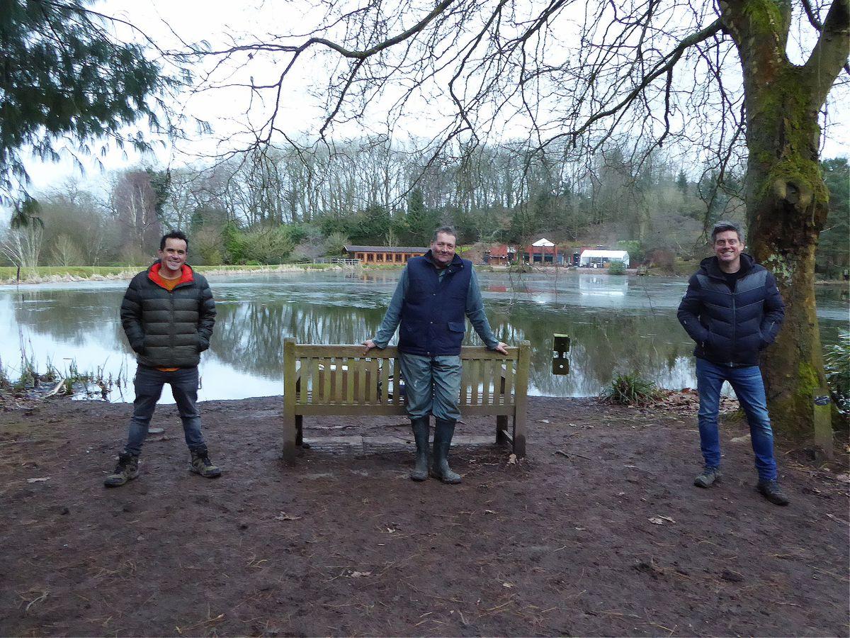 Dominic Wood, James Binnian and Richard McCourt at Bodenham Arboretum