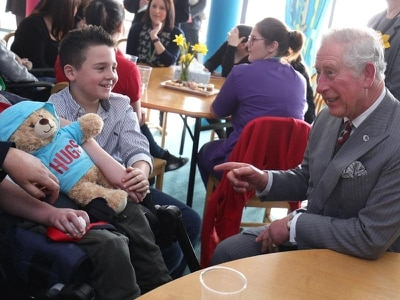 Charles chats to children at 'remarkable' hospice