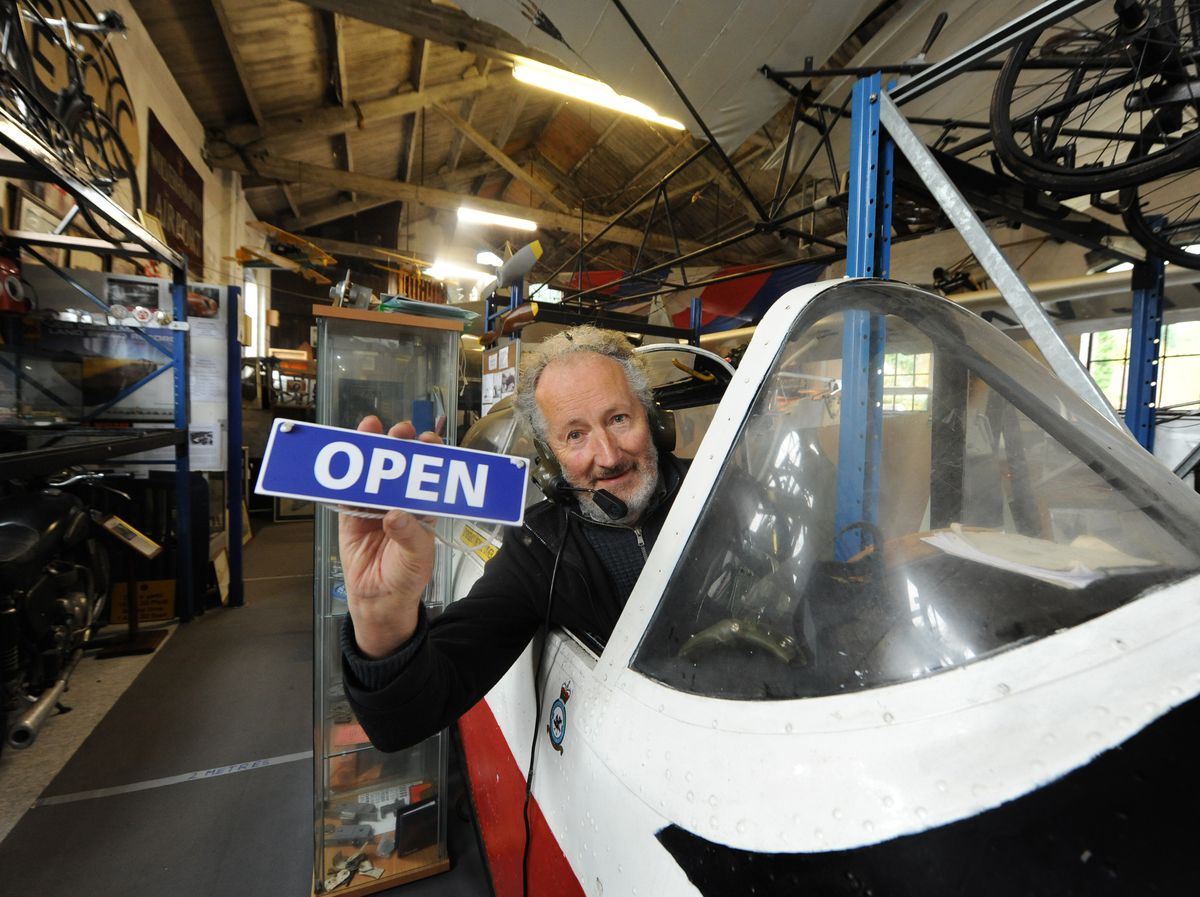 Alec Brew prepares to reopen Tettenhall Transport Heritage Centre