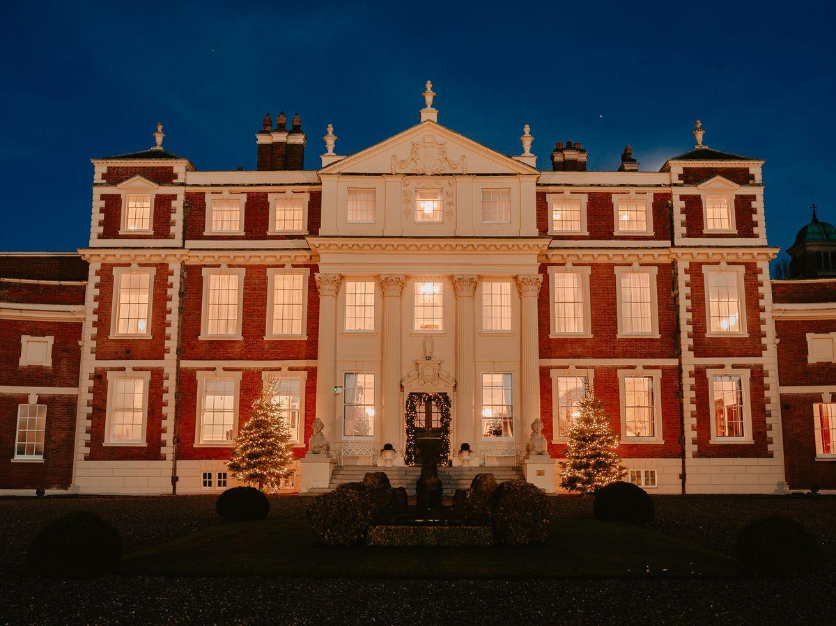 Hawkstone Hall near Shrewsbury is decked out ready for Christmas