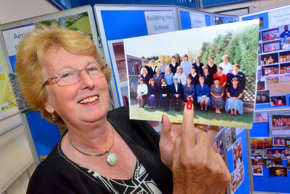 Pics at Perton First School, where they had an exhibition and reunion to mark 40 years since it was built. former head Benita Toth 1998-2008