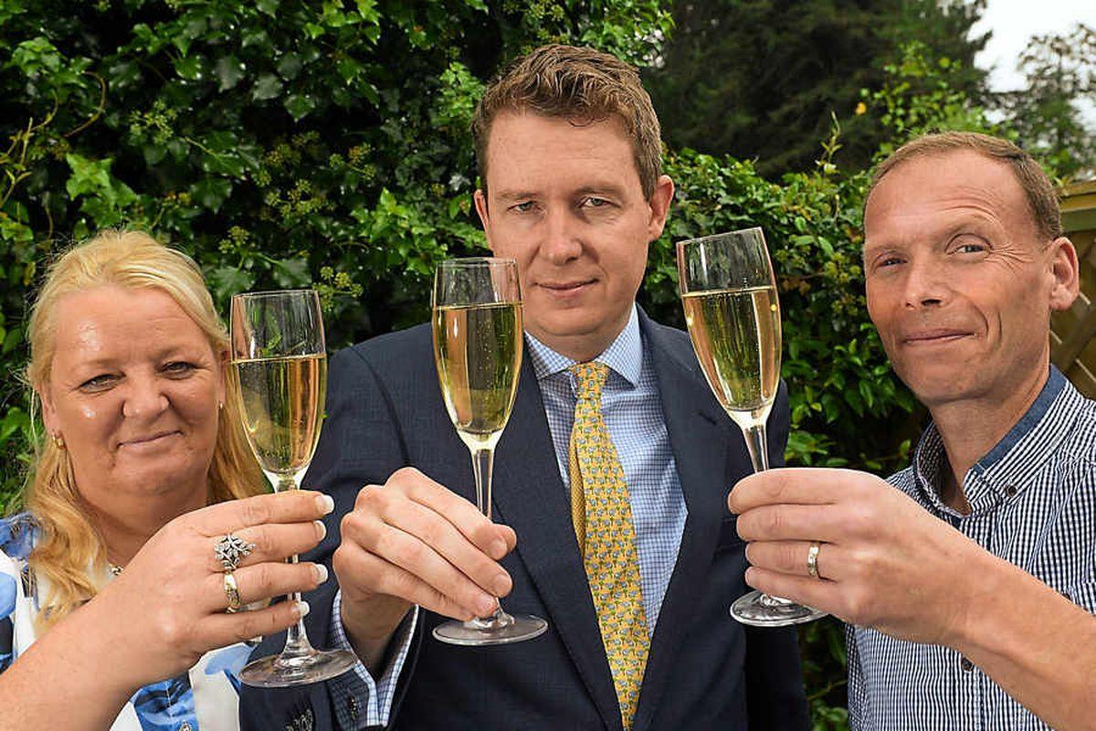 Cheers! £1m Featherstone Lotto couple in millionaire masterclass