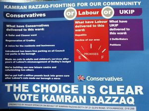 The offending leaflet, Picture: @GuidoFawkes