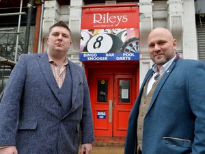 Hayden Dando and Graham Jones outside former Riley's Sports Bar