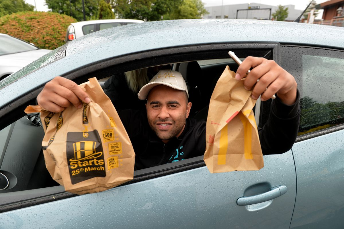 Many of the customers were delighted with McDonald's reopening on Penn Road