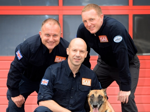 Three West Midlands firefighters - and Cara the dog – selected to join UK Search and Rescue squad