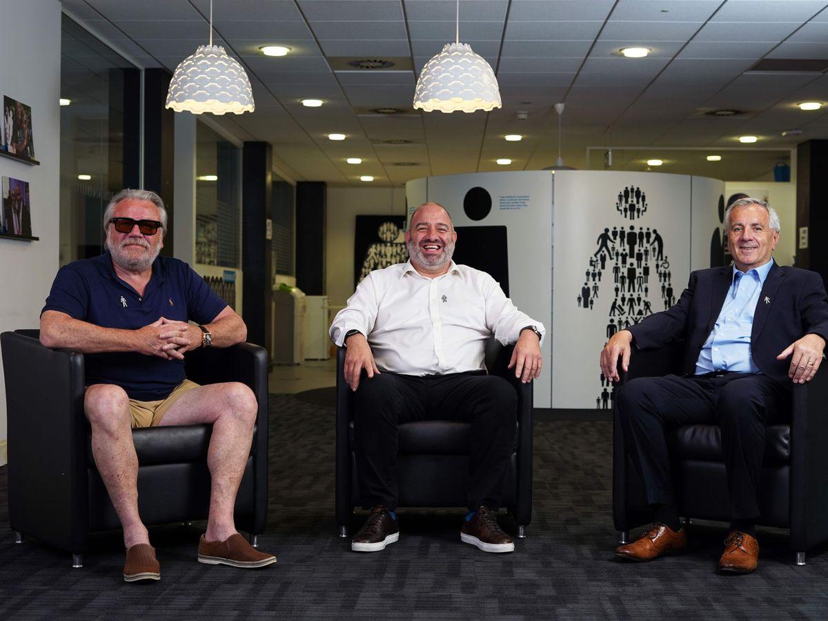 Ray Winstone, Gary Petitt and Peter Varney