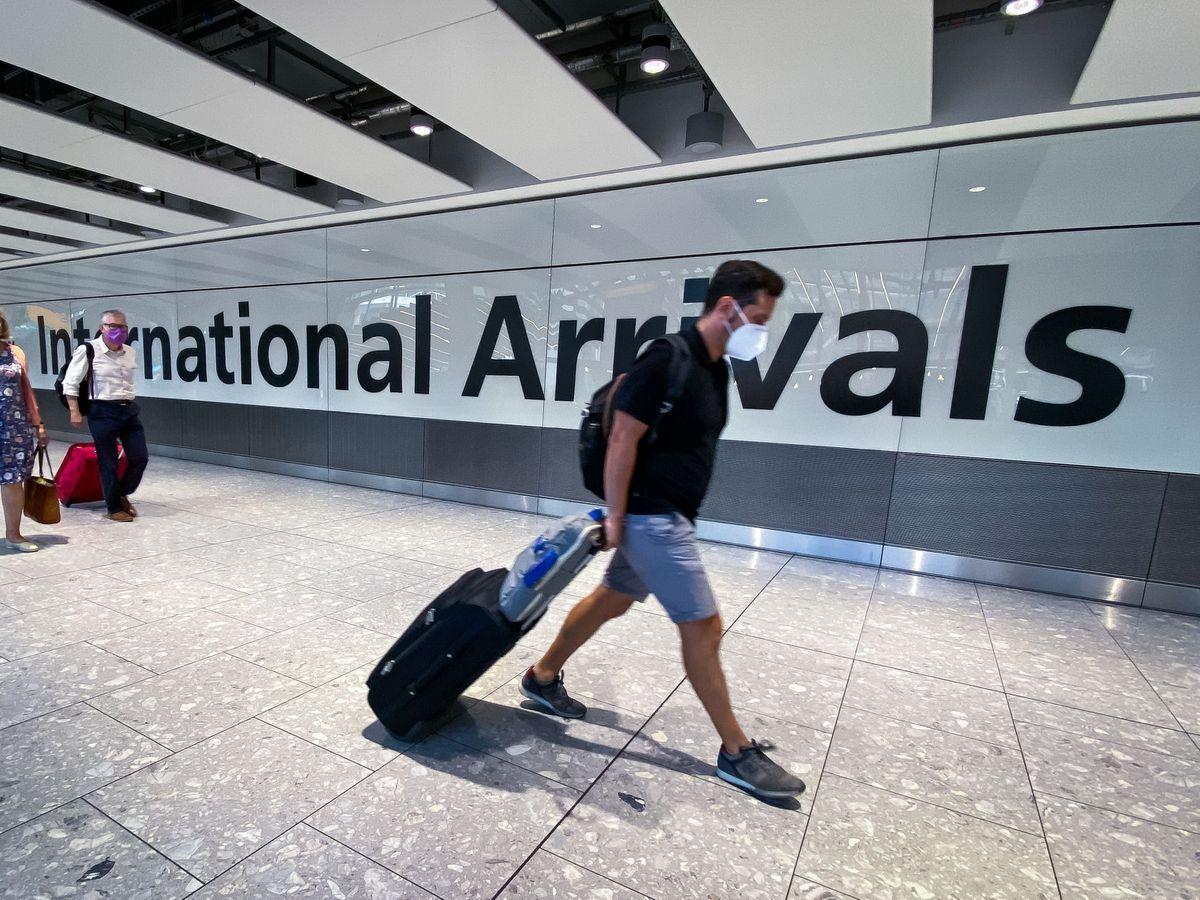 A passenger arrives at Heathrow