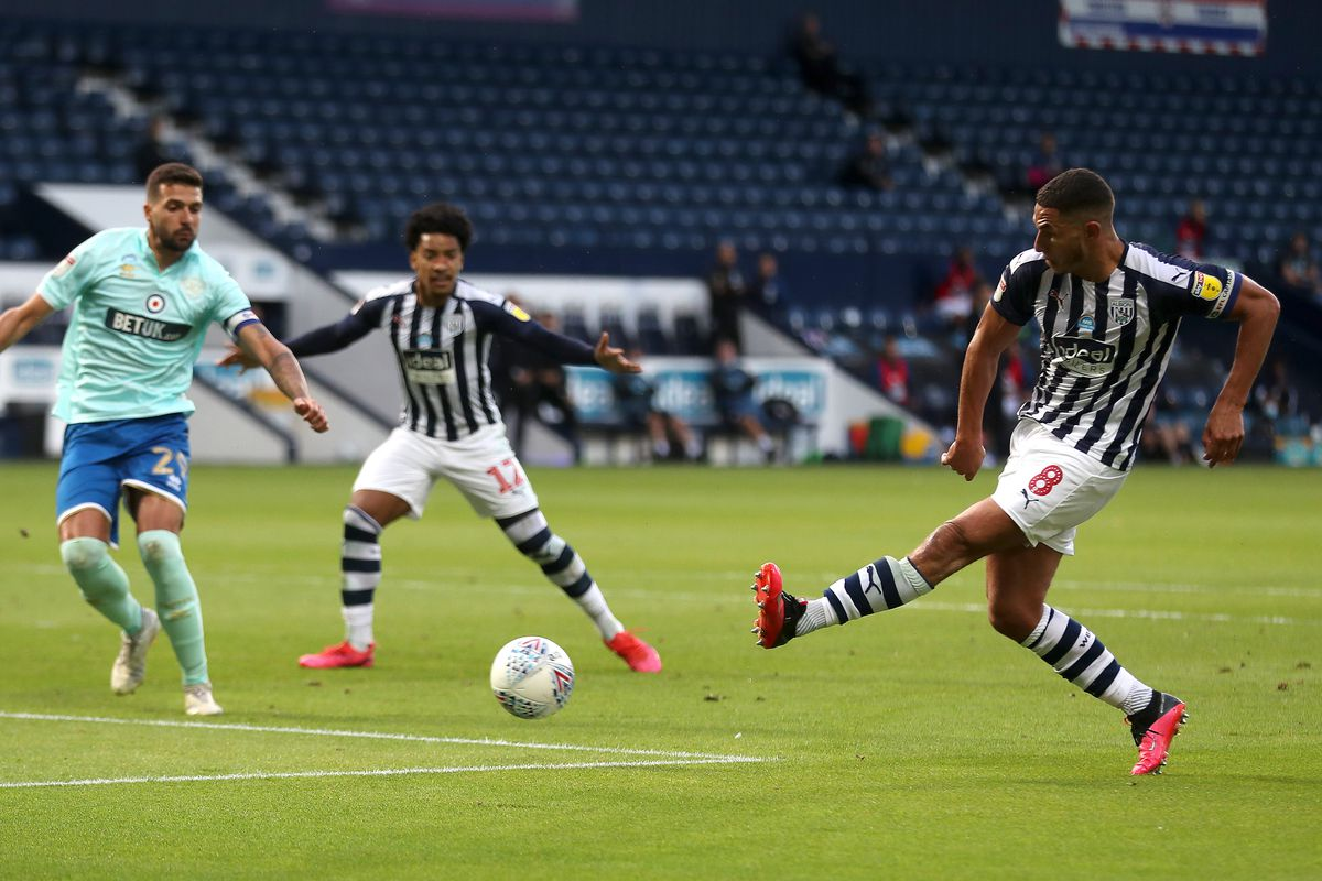 Jake Livermore of West Bromwich Albion shoots. (AMA)