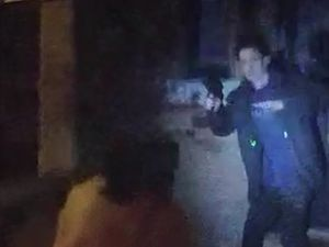 Footage of Andrew Cullen brandishing what turned out to be an imitation firearm.