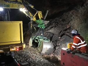 Repairs were carried out after the landslip in Kidderminster. Photo: Network Rail