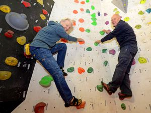 Andy Clarke and Dave Holland show off the skills they've developed over the years of being part of Wolverhampton Mountaineering Club