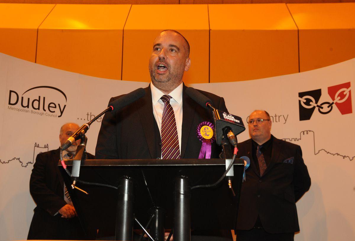UKIP's Bill Etheridge lost his Sedgley seat to Conservative Shaun Keasey