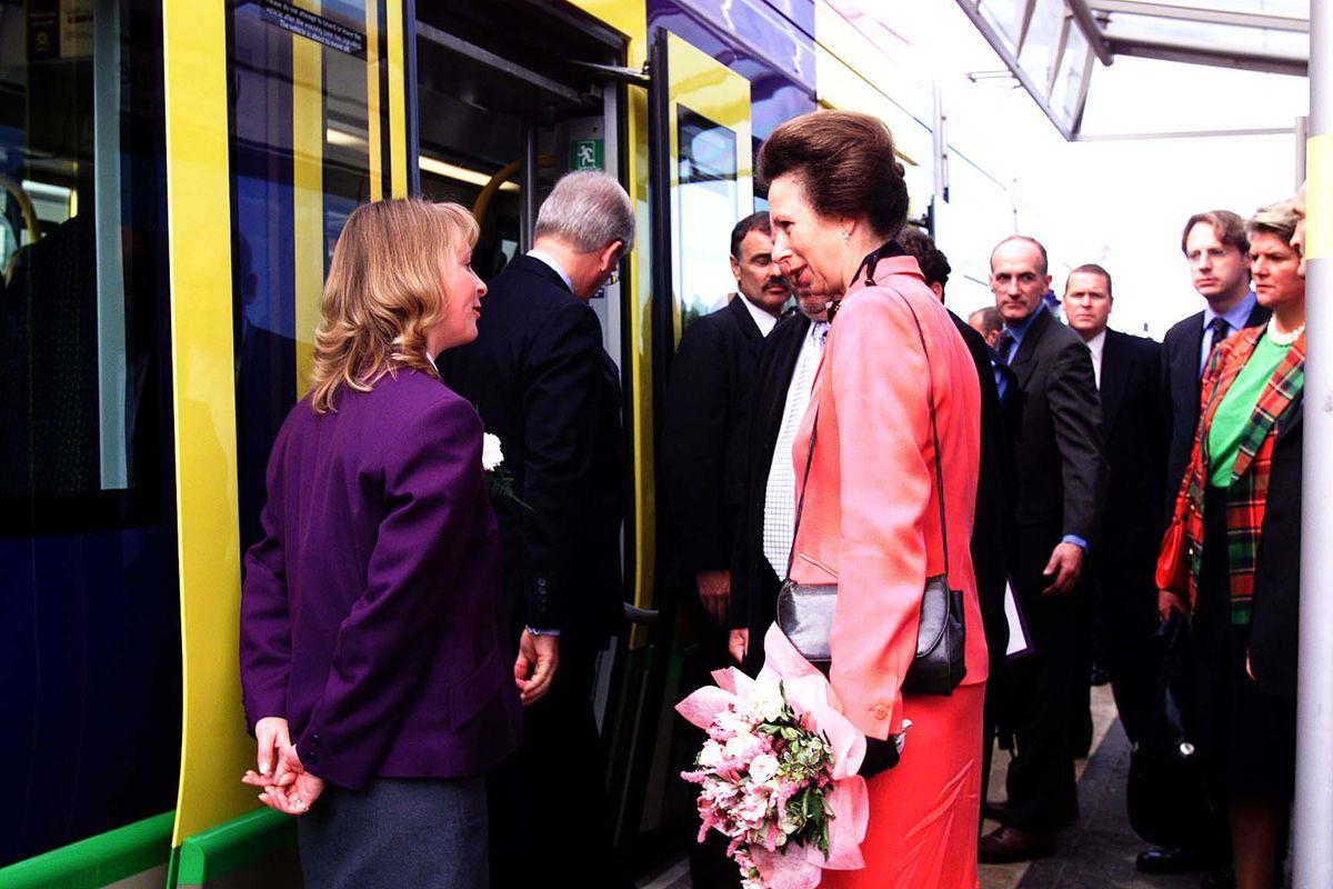 HRH The Princess Royal opens the new Midland Metro tram service