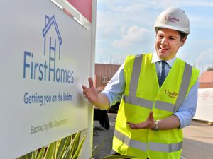 Housing Secretary Robert Jenrick visited the new development in Cannock