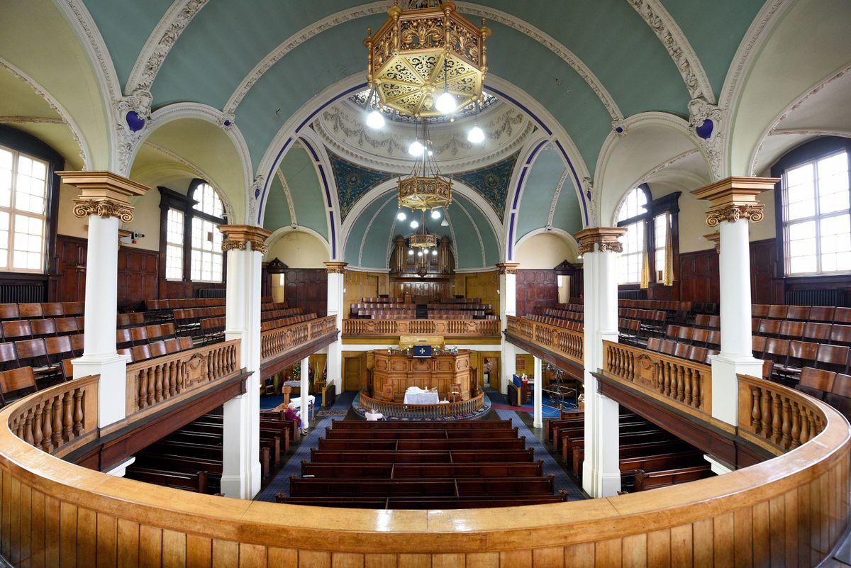 Inside the Grade II listed church
