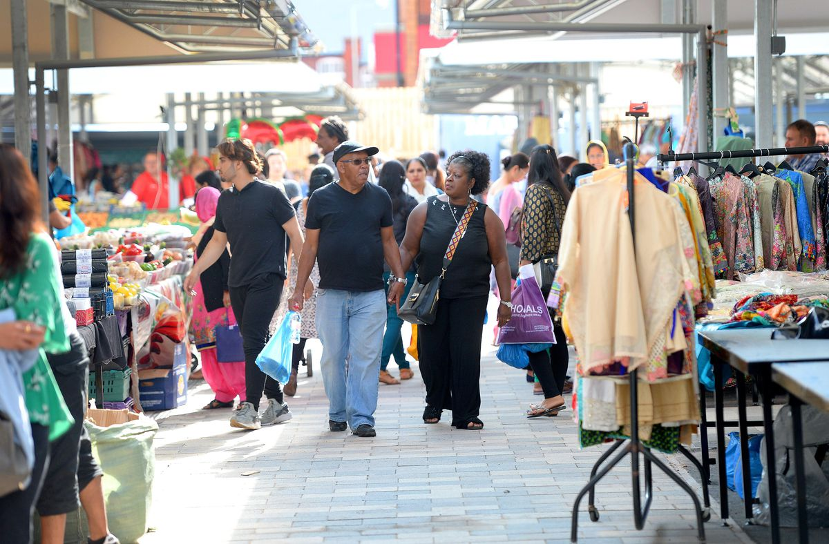 The market was busy on its first day on Cleveland Street