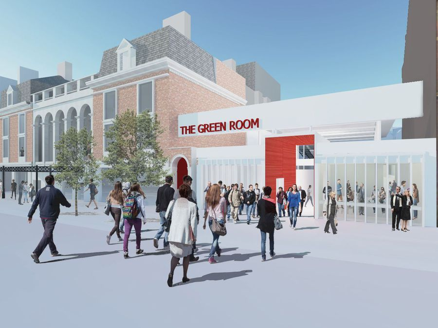 An artist's impression of The Green Room from 2019