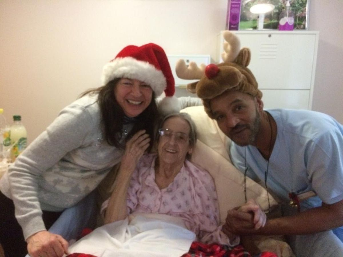 Brenda's last Christmas at Compton Care
