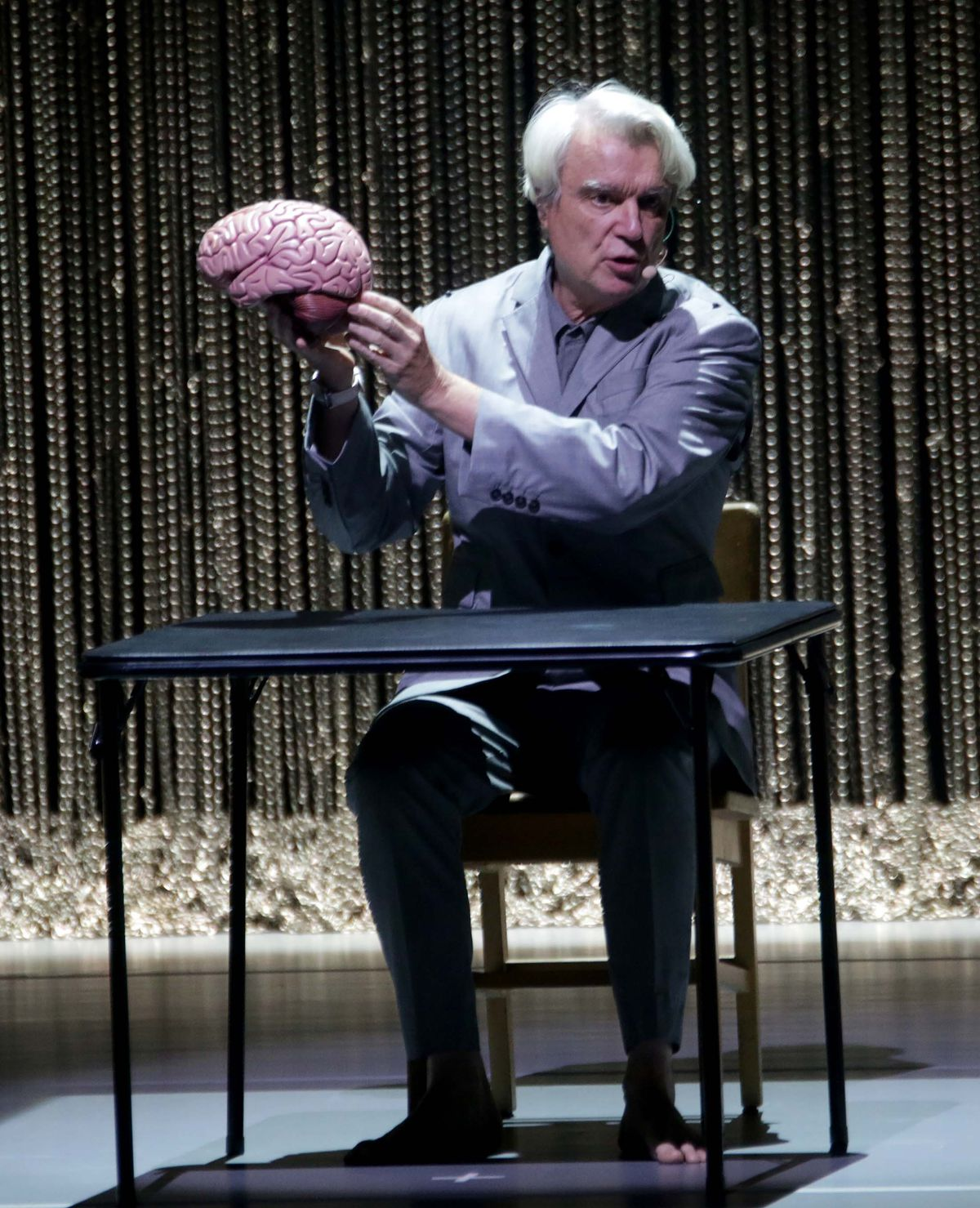 David Byrne with brain opening with Here from American Utopia. Pictures by: Andy Shaw