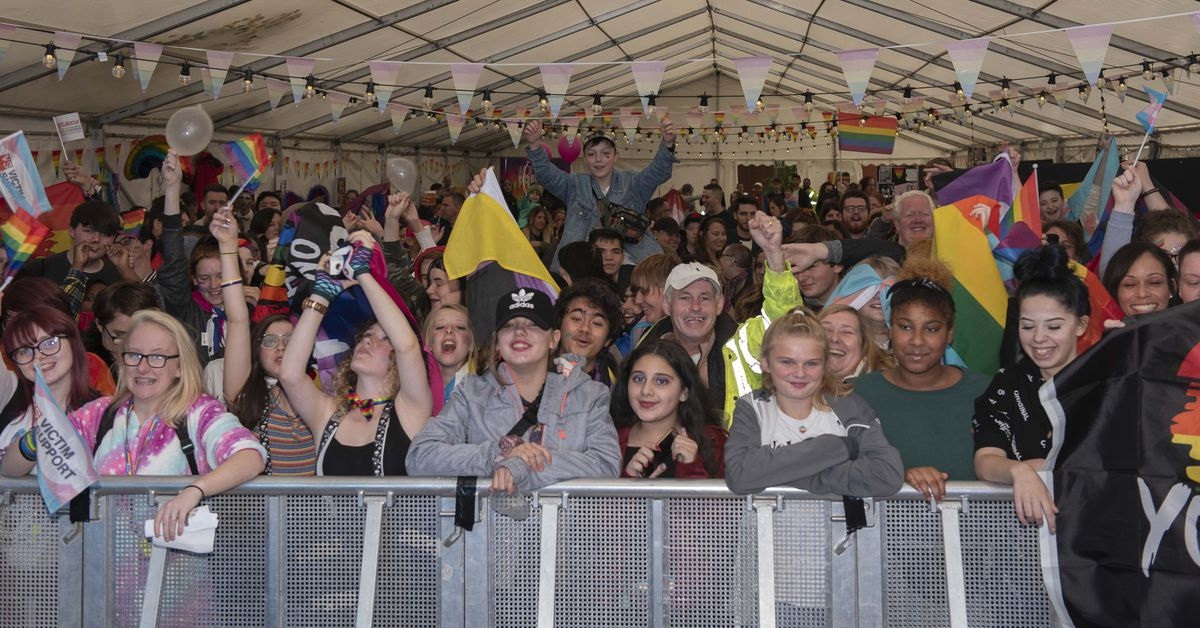 Inside the Wolverhampton Pride 2019 marquee. Photo: Wolverhampton Today