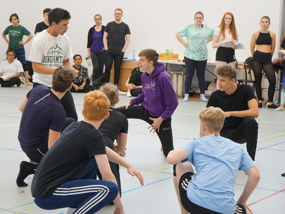 Young stars prepare for West Side Story show