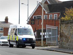Police at the scene in Sedgley