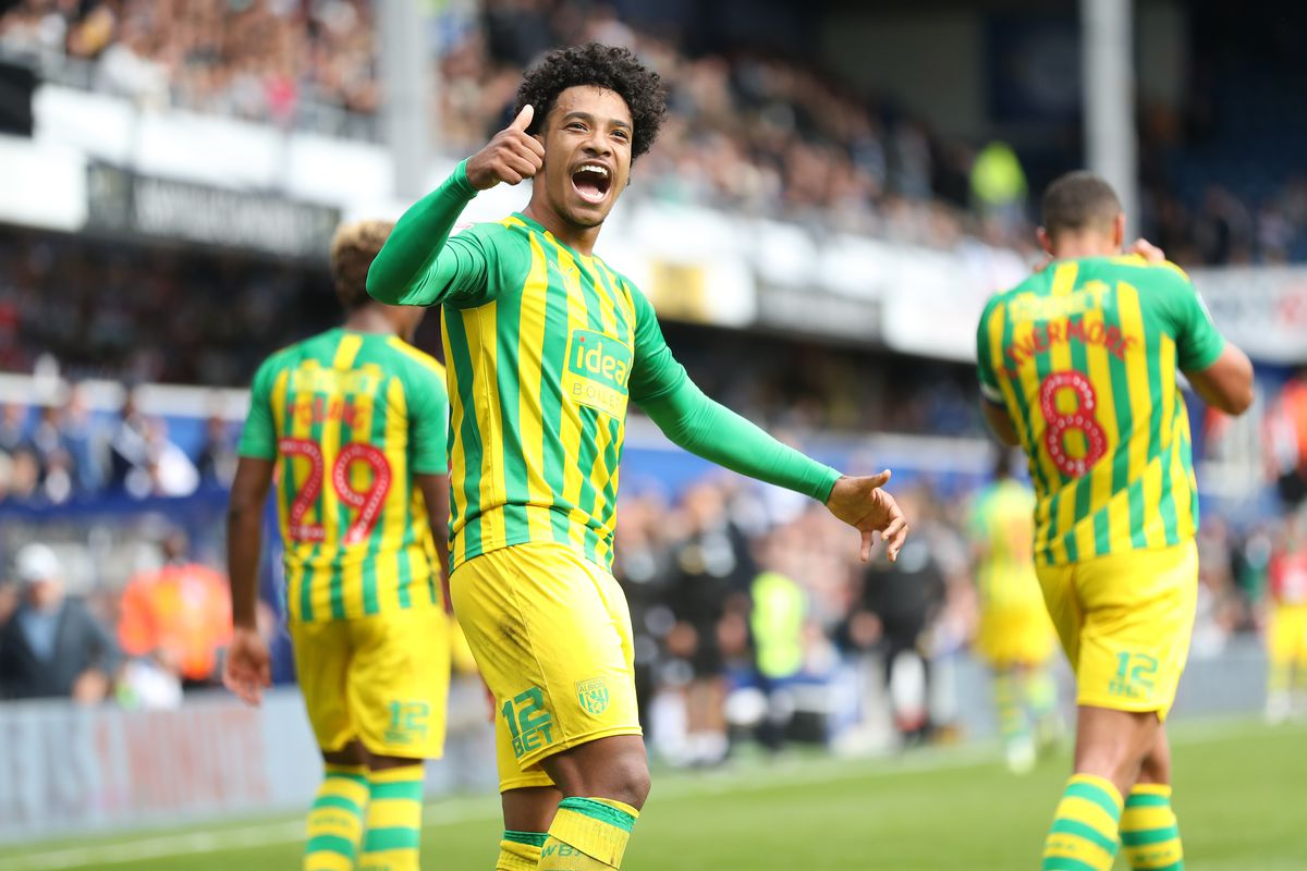 Matheus Pereira of West Bromwich Albion celebrates after scoring a goal to make it 0-2. (AMA)