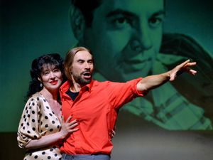 The Dormston Mill Theatre in Sedgley will be the setting for a tribute concert to Mario Lanza. Tara Marisa Kelsey from Telford and Simone Francesco Liconti from Italy are pictured during rehearsals