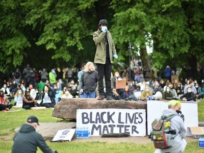 Large crowds in Cardiff for Black Lives Matter Protest