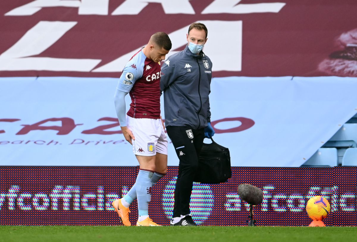 Ross Barkley was injured in the first minute of Villa's defeat to Brighton.