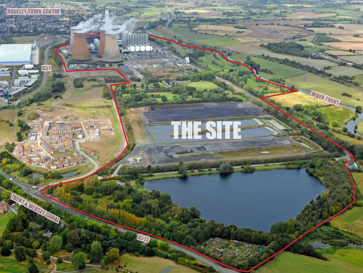 The site surrounding Rugeley Power Station which is set to be transformed