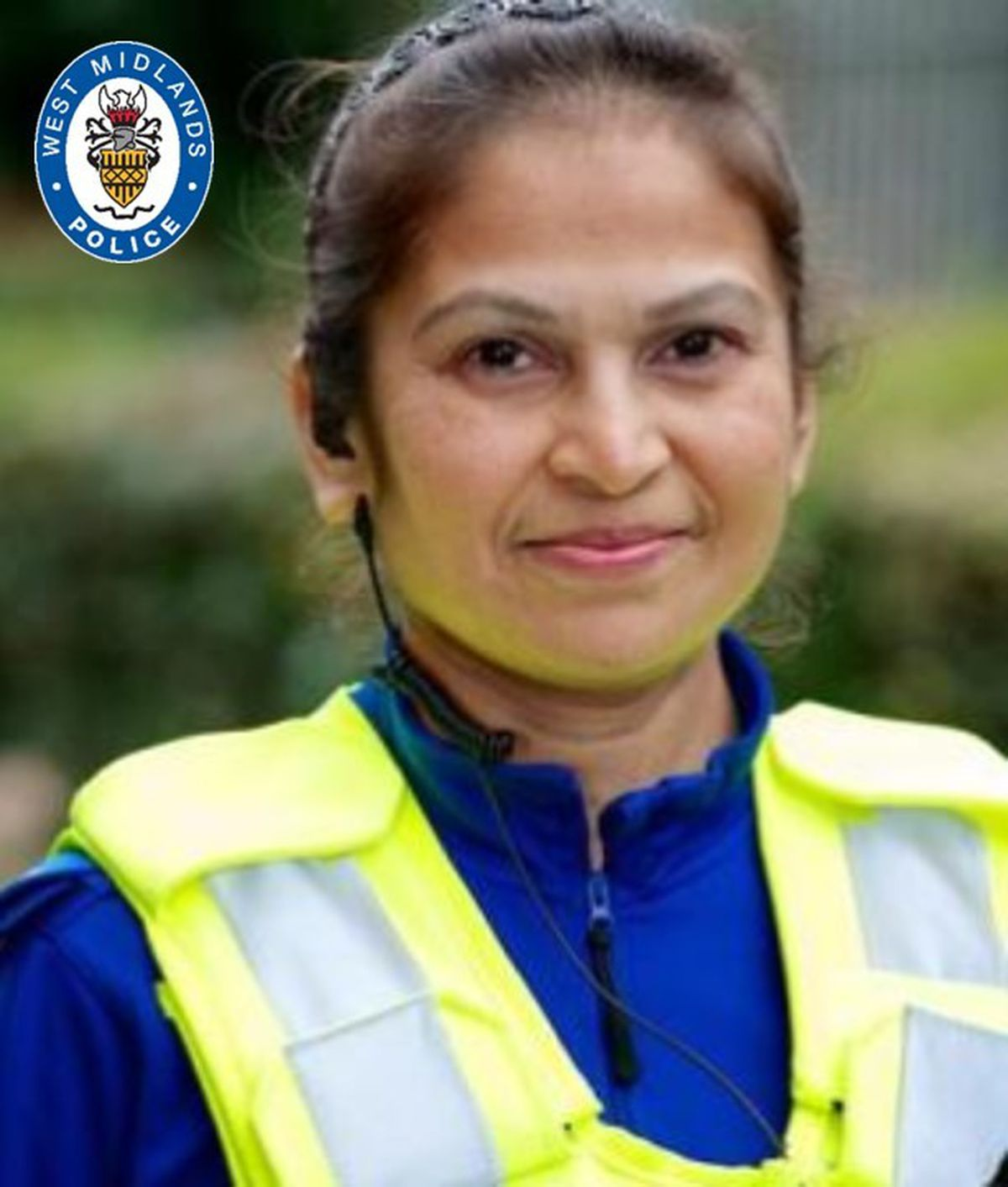 PCSO Kirti Patel achieved 20 years' service with West Midlands Police this year