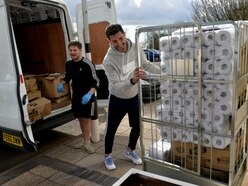 Ex-Wolves skipper Danny Batth delivers hundreds of food parcels to Russells Hall Hospital