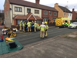Woman cut free by firefighters after Cannock crash