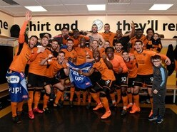 'We are going up!' Wolves players celebrate promotion after derby win - VIDEO
